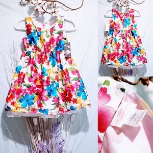 La Princessa Floral print dress girls size 6X 🦄💋